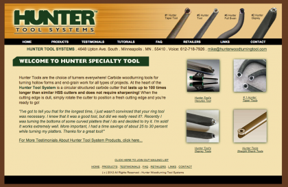 Hunter Tool Website