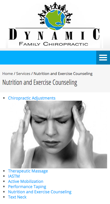 Website Design: Dynamic Family Chiropractic