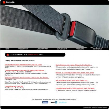 Website Design: Takata Safety Inc.