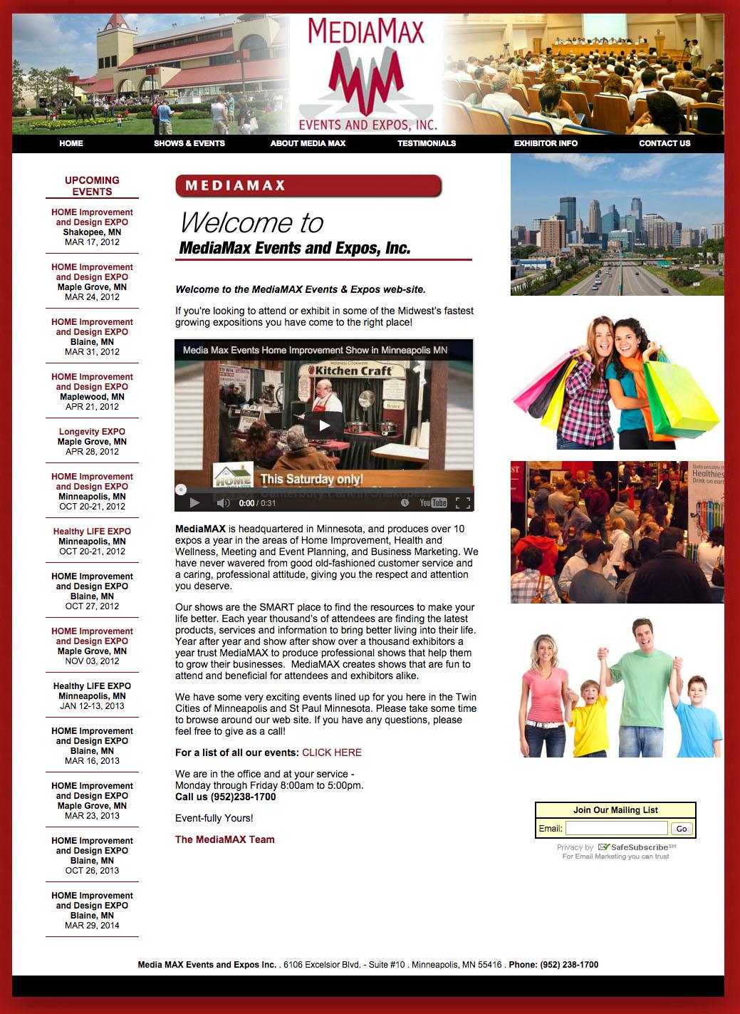 Website Design: Media Max Promotions