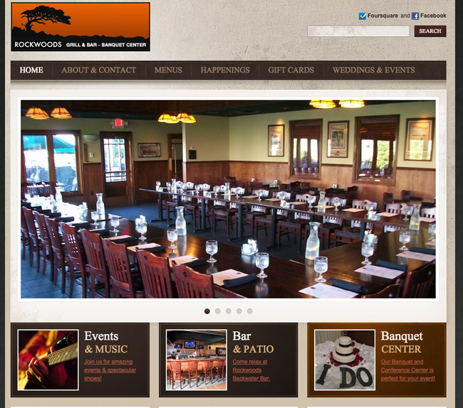 Rockwoods Grill Website