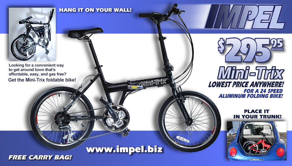 Graphic Design: Impel Portable Bicycle